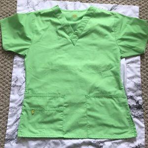 NWOT Women's wonderwink bravo lime green scrub top